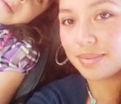"""Yaneth Aguilar, with her daughter: """"I want to share my story to see how I can change people's opinions of what Latino homelessness is."""""""